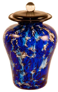 100 Cubic Inch Palermo Water Funeral Glass Cremation Urn for Ashes