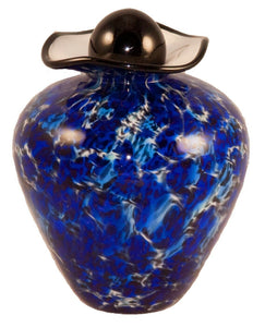100 Cubic Inch Rome Water Funeral Glass Cremation Urn for Ashes