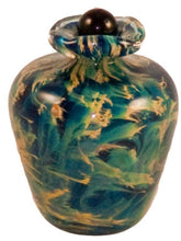 Small/Keepsake 3 Cubic Inch Rome Nuvole Funeral Glass Cremation Urn for Ashes