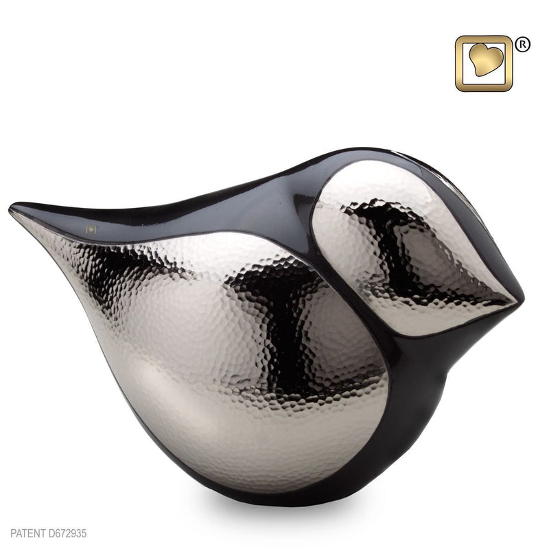 Female Soul Bird Adult Funeral Cremation Urn, 150 Cubic Inches