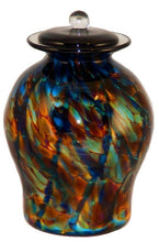 XL/Companion 400 Cubic In Palermo Evening Funeral Glass Cremation Urn for Ashes