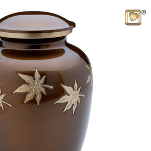 Autumn Leaves Keepsake Funeral Cremation Urn, 3.5 Cubic Inches
