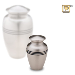 Pewter Classic Radiance Keepsake Funeral Cremation Urn, 3 Cubic Inches