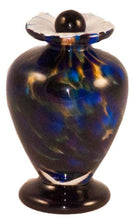 Load image into Gallery viewer, Small/Keepsake 3 Cubic Inch Venice Evening Funeral Glass Cremation Urn for Ashes