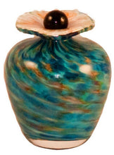 Load image into Gallery viewer, Small/Keepsake 3 Cubic Inch Rome Aegean Funeral Glass Cremation Urn for Ashes