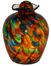 Large/Adult 220 Cubic Inch Rome Autumn Funeral Glass Cremation Urn for Ashes