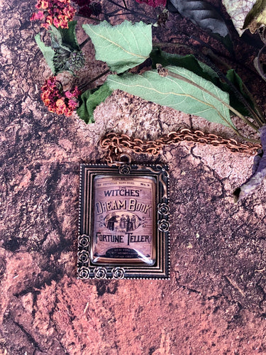 Witches Dream Book necklace
