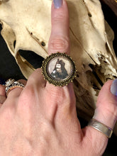 Image ring antique bronze or black