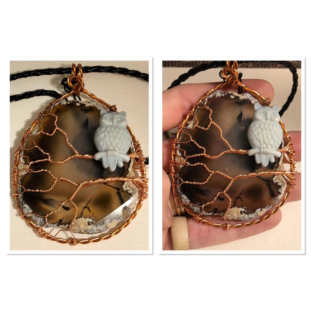 Agate slice tree of life