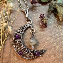 Crescent Moon in Silver