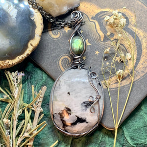 Moonstone and Labradorite in Sterling