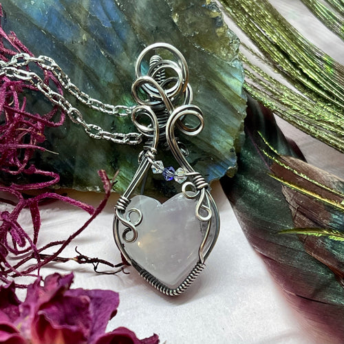 Amethyst Heart in Sterling