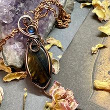 Tigers Eye w/ Moonstone in Copper
