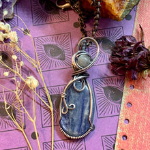 Kyanite and Labradorite in Silver