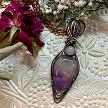 Amethyst with Rose Quartz in copper