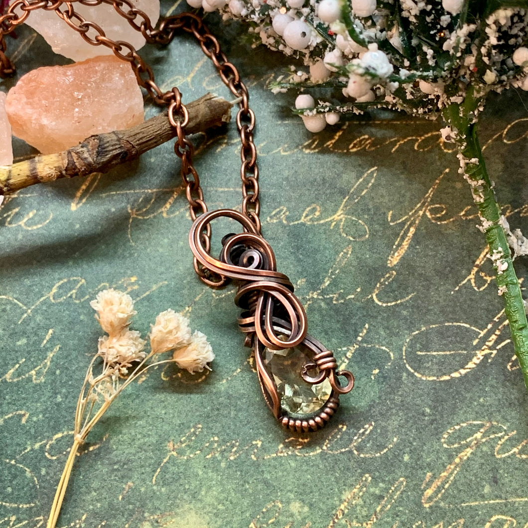 Citrine in copper