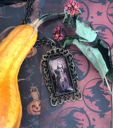 Vintage witch necklace