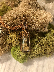 Witch Bottles in sterling or copper