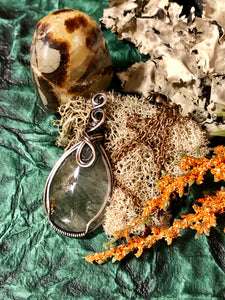Moss Agate in copper