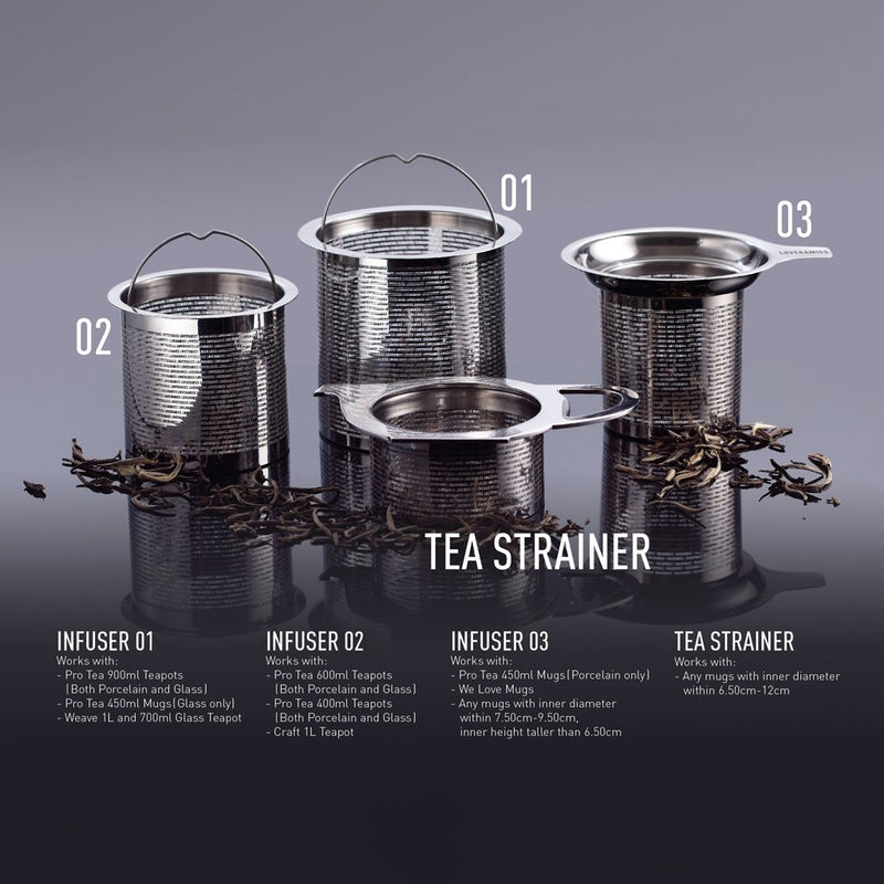 Pro Tea Tea Strainer (Metallic)
