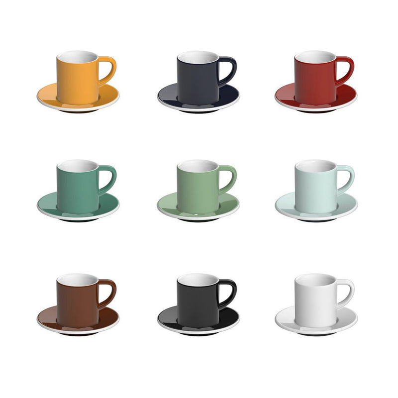 Bond 2.5oz / 80ml Espresso Cup & Saucer (9 color options)
