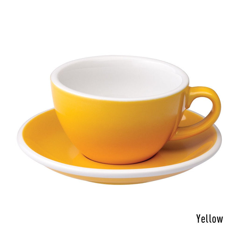 Egg 6.5oz / 200ml Cup & Saucer (10 color options)