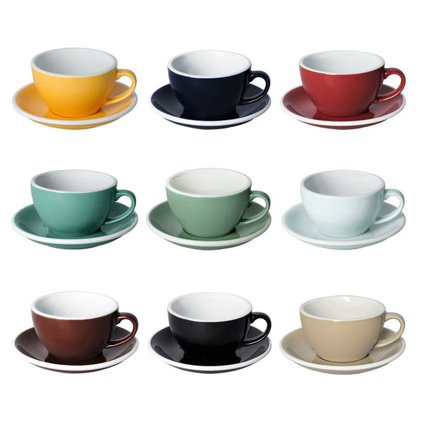 Egg 8oz / 250ml  Cup & Saucer (9 color options)