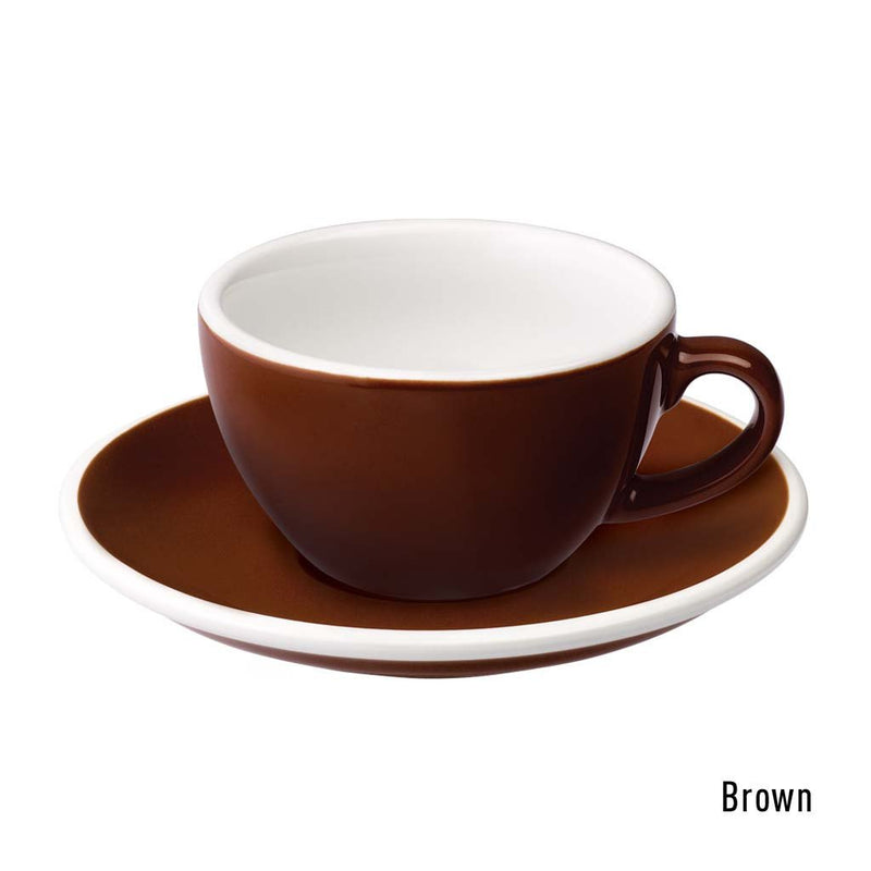 Egg 5oz / 150ml Cup & Saucer (10 color options)