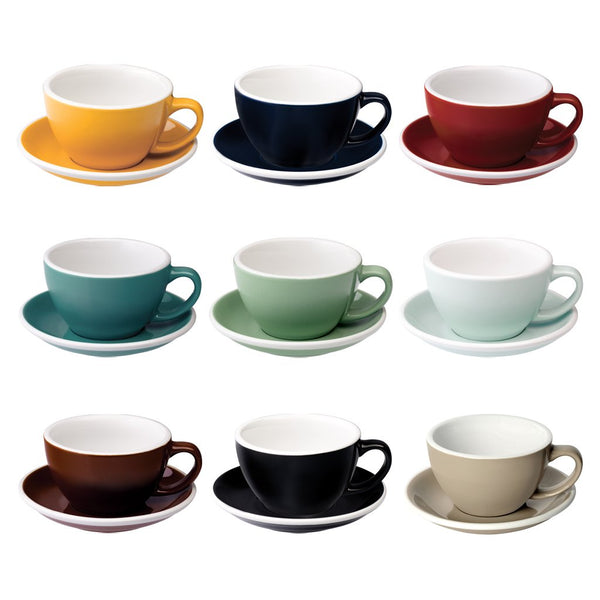 Egg 10oz / 300ml Cup & Saucer (WLAC official, 10 color options)
