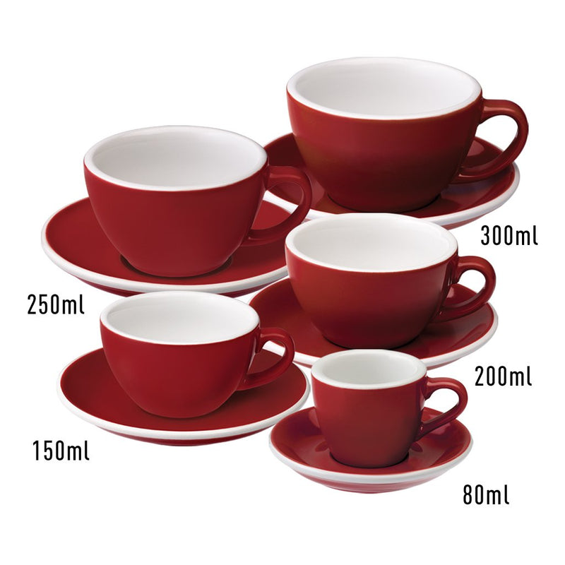 Egg 2.5oz / 80ml Cup & Saucer (10 color options)