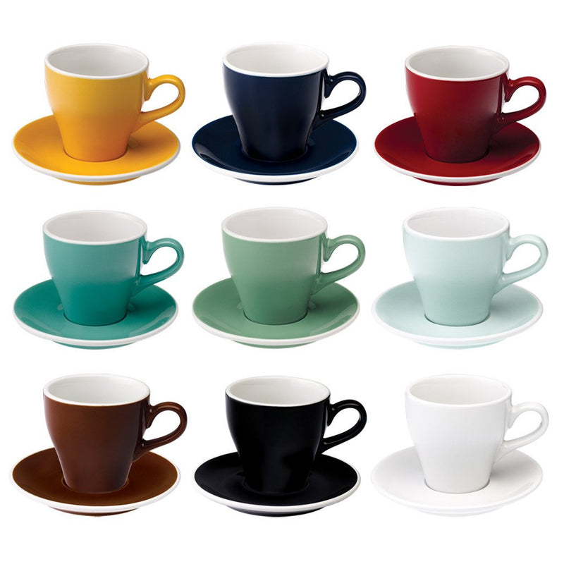 Tulip 9oz / 280ml Cup & Saucer (9 color options)
