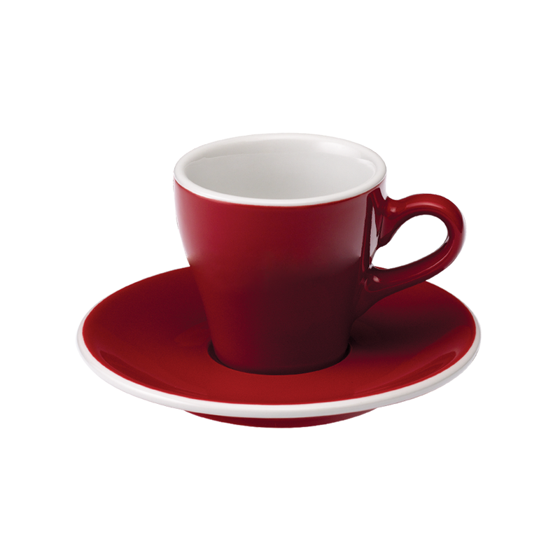 Tulip 2.5oz / 80ml Cup & Saucer (9 color options)