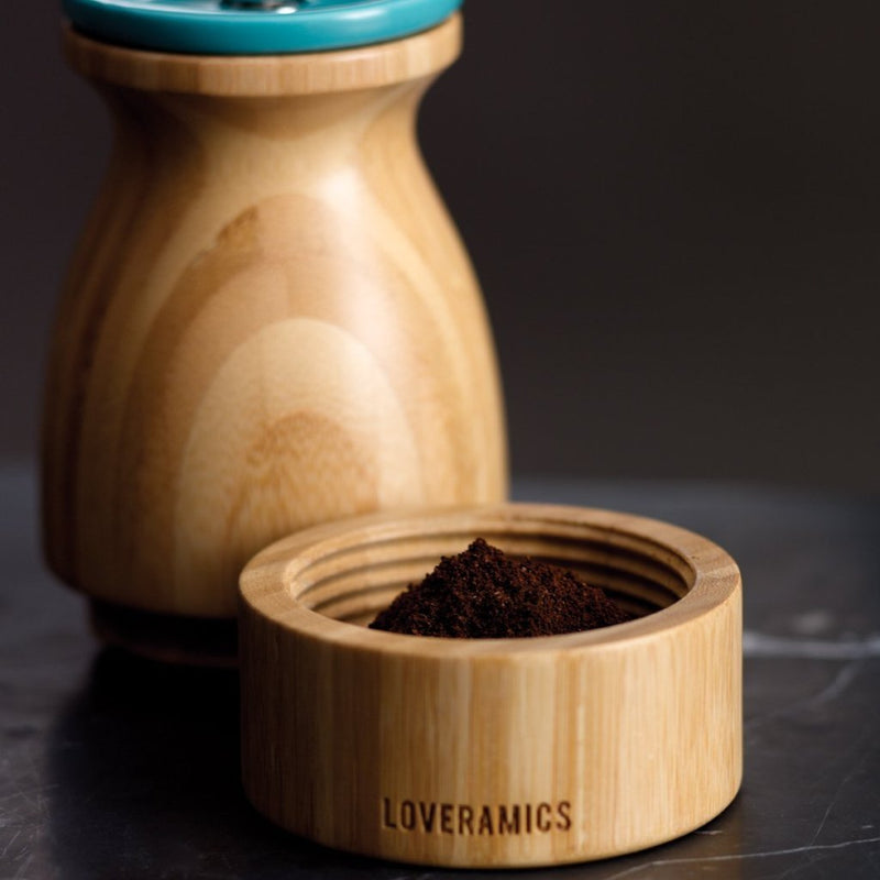 loveramics porcelain coffee grinder bamboo wood crush grind burr specialty ek43