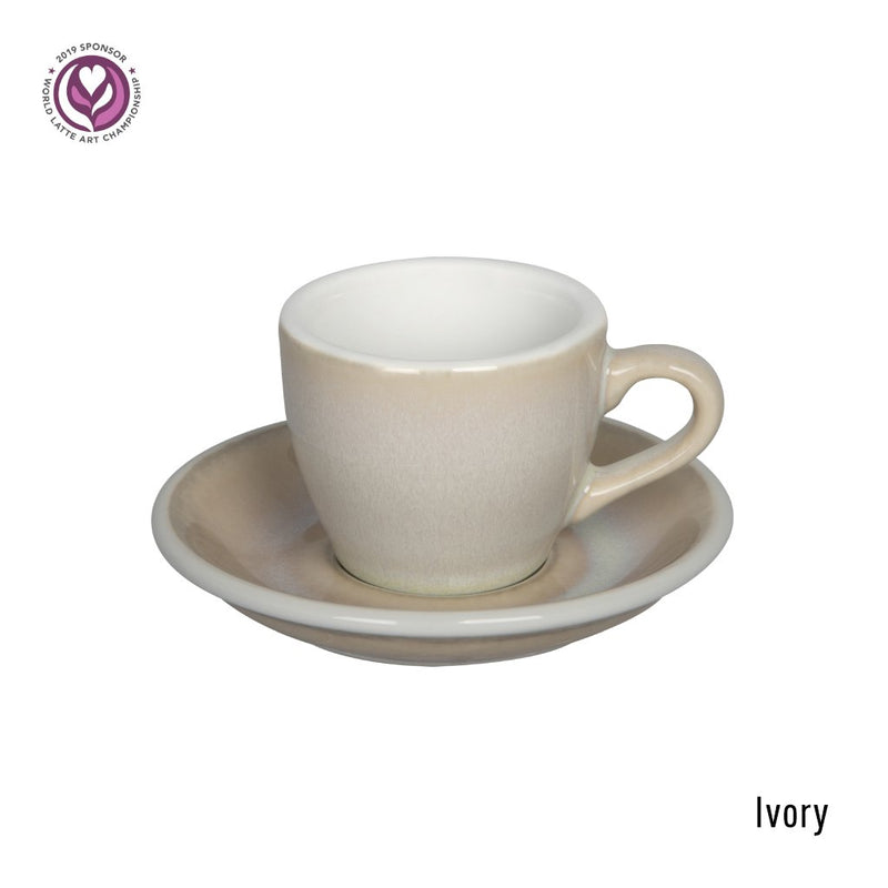 Egg 2.5oz / 80ml Cup & Saucer (10 potters options)