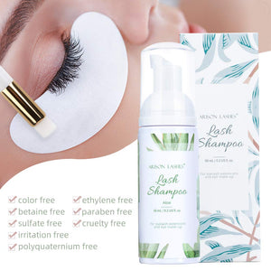 Arison Lashes Lash Shampoo +Brush/60ml --Aloe Scent