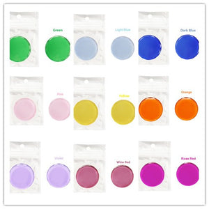 Round colored glass frame palette