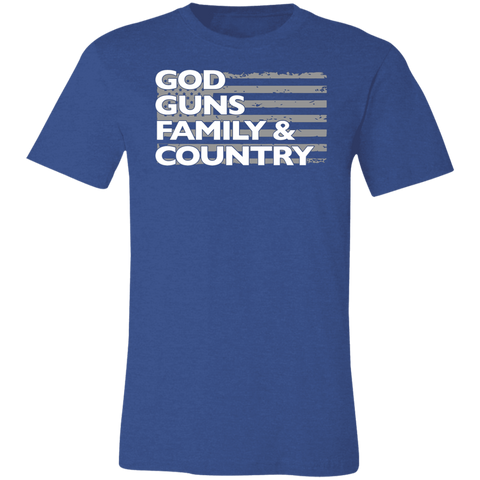God Guns Family Country Unisex Tee