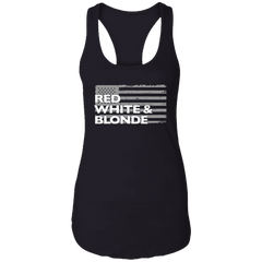 Red White & Blonde Ladies Tank