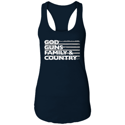 God Guns Family Country Ladies Tank