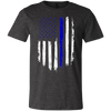 "Image of ""Thin Blue Line Flag"" Unisex Tee"