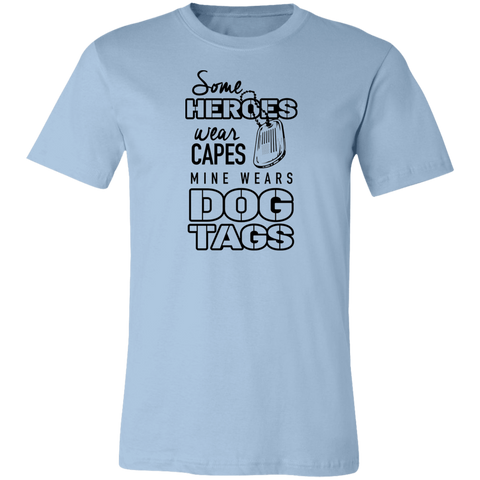 Heroes Wear Dog Tags Unisex Tee
