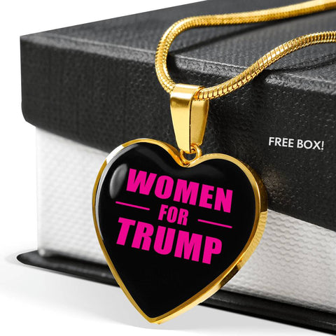 """Women For Trump"" Heart Shaped Necklace"