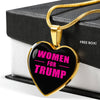 "Image of ""Women For Trump"" Heart Shaped Necklace"