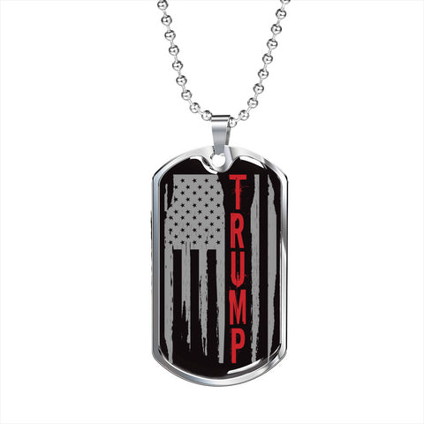 Trump Flag Dog Tag