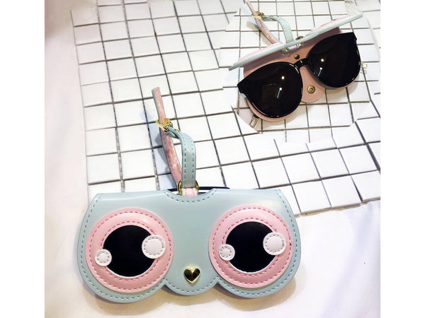 Cute Eye Portable Glasses Box