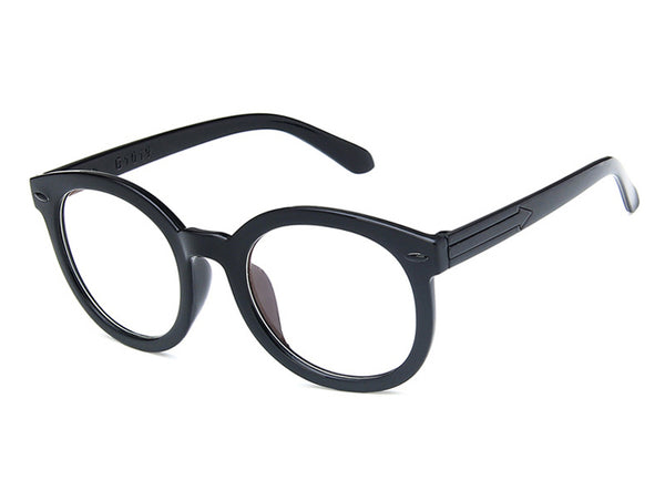 PC Black Round Glasses
