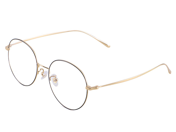 Titanium Gold Round Glasses
