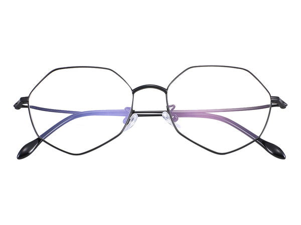 Titanium Black Irregular Glasses