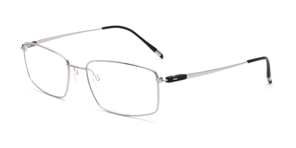 Titanium Rectangle Glasses