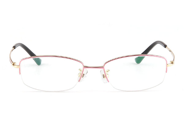 Titanium Half Rim Rectangle Glasses